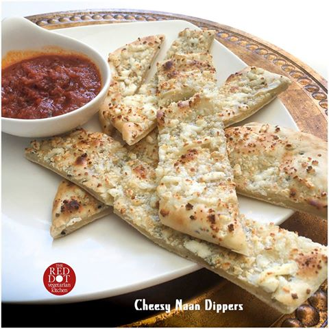 Cheesy Naan Dippers