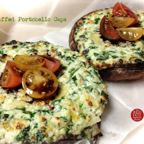 Stuffed Portobello Caps