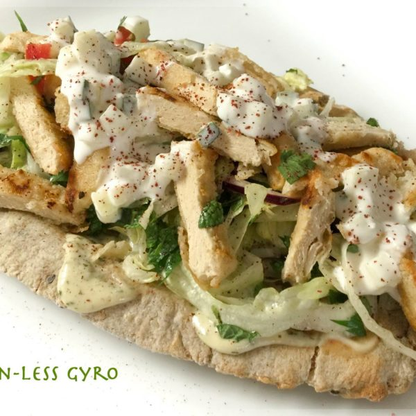 Soy Chicken Greek Gyro
